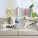 set od 6 country stilu pamuka / lana dekorativne jastučnicu