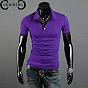 chicheng®男性のシャツの首シカ刺繍カジュアルファッションスタンドカラースリムポロシャツプラスサイズXXXL