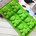 6穴の赤ちゃんクマのケーキ型の氷のゼリーチョコレートモールド、シリコーン31×18×2.2センチメートル(12.2×7.1×0.9インチ)
