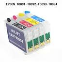 EPSONスタイラスS20 / S21 / SX100 / SX105 / sx115 / SX110 / SX210用bloom®エプソンt0891 / t0892 / t0893 / t0894詰め替え可能なインクカートリッジ