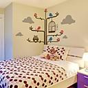zidne naljepnice zidne naljepnice, crtani drveća i sova PVC zidne naljepnice.
