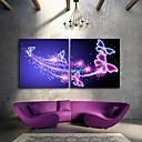 E-home® rastegnut na čelu platnu print umjetnosti leptir bljesak djelovanje dovelo set 2