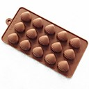 15 Hole Shell Shape Cake Mold Ice Jelly Chocolate Mold,Silicone 22×11×1.5 CM(8.7×4.3×0.6 INCH)