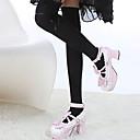 Ponožky a punčochy Sweet Lolita Lolita Hnědá / Bílá / Černá Lolita Příslušenství Punčocháče Jednobarevné Pro Dámské Bavlna