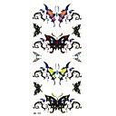 1ks butterfly tetování nálepka 18.5x8.8cm