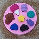 sladoled u obliku Fondant kolač čokoladna silikonski kalup za tortu cupcake ukras alati, l10.2cm * w10.2m * h1.4cm