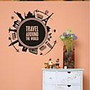 samolepky na zeď na stěnu, bytové dekorace cestovat po celém světě PVC nástěnnými samolepkami