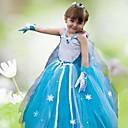 Dívka je Celoročně Šaty Organza Modrá