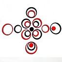 zidne naljepnice na zid naljepnice, modni mješoviti boja DIY 15 krugova akril ogledalo metalni zid naljepnica