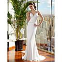 Lanting Bride® Sirena kroj Sitna / Veći brojevi Vjenčanica Jako kratki šlep Tanke naramenice Satenski šifon s