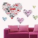 nástěnné nálepky na stěnu, romantický miluji tě heartletters pvc samolepky na zeď