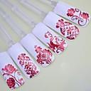暗赤色の花ネイルアートステッカーの混合パターンの108pcs枚