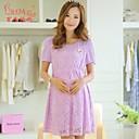 妊婦の夏韓国のファッションエレガントなドレスドレス妊娠中の女性