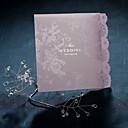 Graceful Lilic Lace Folded Wedding Invitaion (Set of 50)