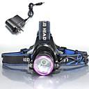 Osvětlení Čelovky LED 2000 Lumenů Režim Cree XM-L T6 18650 Voděodolný / Dobíjecí / Odolný proti nárazům / Strike Bezel / Nouzová situace