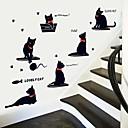 samolepky na zeď na stěnu, karikatura kočky hrací pvc samolepky na zeď