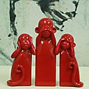 crveni majmun nema zla ukras, 3pcs / set
