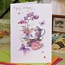 "Non-personalizaton Side Fold Vjenčanje Pozivnice Thank You Cards-1 Piece / Set Cvjetni Style Kartica papira 7 1/2 ""x 6 1/4"" (19 * 13.5cm)"