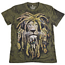 mumugeorge男性用の最新の3D動物印刷半袖Tシャツ