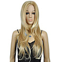 女性のブロンドの長い巻き毛のパンクのかつら