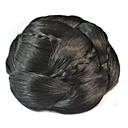 vintage cívka Bun drdol paruka (black)