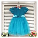 Dívka je Jednobarevné Léto Šaty Směs bavlny