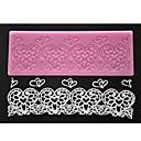 četiri-c boji čipke silikonska mat srce utiskivanje jastuk torta čipke plijesni pink