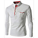 Ležérní Košilový límec - Dlouhé rukávy - MEN - T-Shirts ( Směs bavlny )
