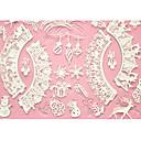 装飾のための4-Cケーキベーキングマットレースのマットシリコーンケーキ型、シリコーンマットフォンダンケーキツールの色のピンク