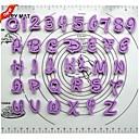 karikatura abecedy plast cookie fréza 36 ks
