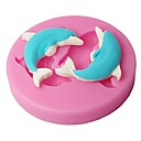 četiri-c silikonski kalup cupcake dupini torta dekor boje plijesni roza