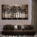 E-home® pruži platnu si noć pod sjenama drveća ukras slikarstva set od 5