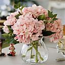 pět maso růžové hygrangeas umělé květiny s vázou