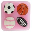 Košarka Nogomet NFL obliku Fondant kolač čokoladna silikonski kalup, cupcake ukras alati, l6cm * w6.1cm * h1.8cm