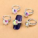 Nové 10ks ab nail art šperky malíček na nehty prsteny hliníkové tipy drahokamu aryclic nehty dekorace