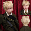angelaicos muži Arthur Kirkland APH os pravomoci chlapec blondýnka s vrstvami Halloween party kostým cosplay paruky