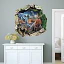 Zvířata / 3D Samolepky na zeď 3D samolepky na zeď Ozdobné samolepky na zeď,PVC Materiál Snímatelné Home dekorace Lepicí obraz na stěnu