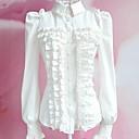 Halenka / košile Sweet Lolita Lolita Cosplay Lolita šaty Bílá Černá Jednobarevné Dlouhé rukávy Lolita Pro Dámské Polyester