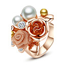 Prstenje Moda Party Jewelry Legura Žene Prstenje sa stavom 1pc,Univerzalna veličina Rose Gold