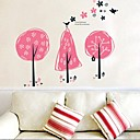 zidne naljepnice zidne naljepnice, ružičasta stablo PVC zidne naljepnice