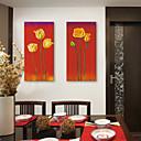 e-HOME® plátně umění květ dekorativní malba Sada 2
