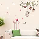 samolepky na zeď na stěnu, karikatura strom klec PVC samolepky na zeď