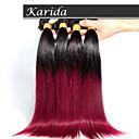 3 kom / dosta veliko ravno Ombre kosa plete boja 1b / 530 #, mekana i zaplet besplatno Brazilski kose Ombre kose proširenje