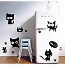 crna mačka zidne naljepnice