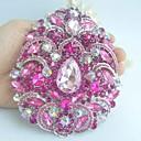 Žene pribor srebro-ton ružičasta vještački dijamant kristalno cvijet broš art deco kristalno broš buket žene nakit