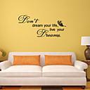 zidne naljepnice na zid naljepnice stil san engleski riječi&citati PVC zidne naljepnice