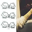 2016 Nová malba vodotěsný dočasné tetování sloní pasta, 3ks