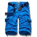 Obično Muška Kratke hlače Ležerne prilike / Plus veličine,Pamuk Crna / Plava / Crvena / Siva / Boja kože / Bež