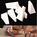 ネイルデザインのスポンジのグラデーションカラーのDIYツールをスタンピング8本の三角形白いマニキュアスポンジネイルアートスタンパ