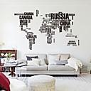 190cm * 116cm velika karta svijeta zidne naljepnice izvorni zooyoo95ab slova karta zid umjetnosti spavaća zidne naljepnice